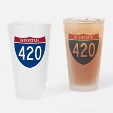 Interstate 420 Road Sign Drinking Glass