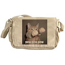 pew pew cat Messenger Bag