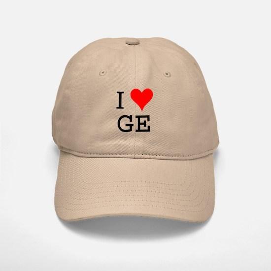 I Love GE Baseball Baseball Cap
