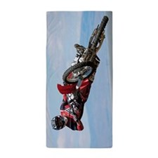 Motocross Stunt Beach Towel