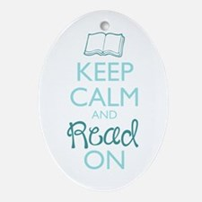 Keep Calm and Read On Ornament (Oval)