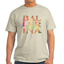 Ballerina Pink Camo Font T-Shirt