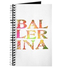 Ballerina Pink Camo Font Journal