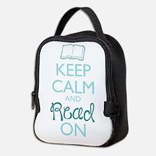Keep Calm and Read On Neoprene Lunch Bag