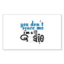 You Dont Scare Me Im A Goalie Decal