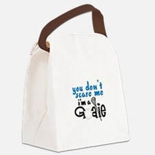 You Dont Scare Me Im A Goalie Canvas Lunch Bag