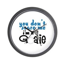 You Dont Scare Me Im A Goalie Wall Clock