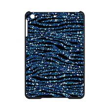 Blue Black Faux Glitter iPad Mini Case