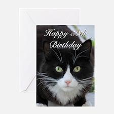 Happy 50th Birthday cat Greeting Cards