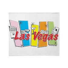 Las Vegas Retro Throw Blanket