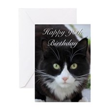Happy 90th Birthday cat Greeting Cards