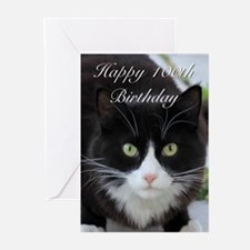 Happy 100th Birthday cat Greeting Cards