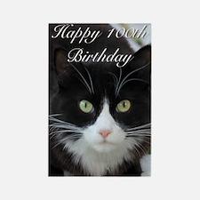 Happy 100th Birthday Cat Magnets