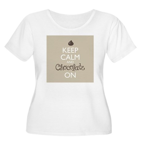 Keep Calm and Women's Plus Size Scoop Neck T-Shirt