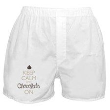 Keep Calm and Chocolate On Boxer Shorts