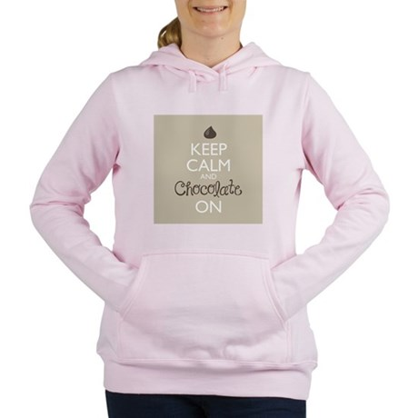 Keep Calm and Chocolate Women's Hooded Sweatshirt