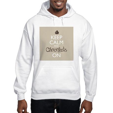 Keep Calm and Chocolate On Hooded Sweatshirt