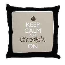 Keep Calm and Chocolate On Throw Pillow