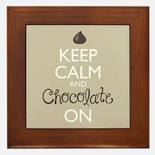 Keep Calm And Chocolate On Framed Tile