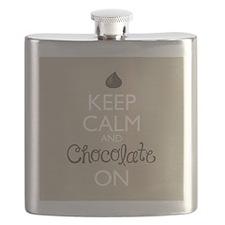 Keep Calm and Chocolate On Flask