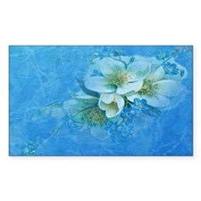 Blue Flowers Decal