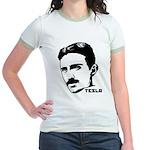 Nikola Tesla Jr. Ringer T-Shirt
