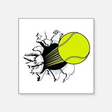 "Breakthrough Tennis Ball Square Sticker 3"" x 3"""