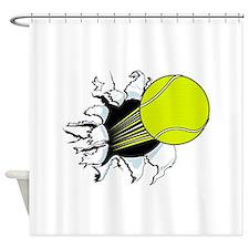 Breakthrough Tennis Ball Shower Curtain