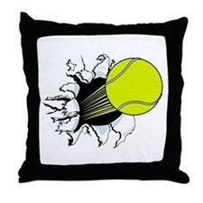 Breakthrough Tennis Ball Throw Pillow