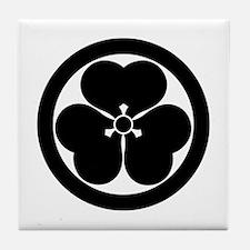Wood sorrel in circle Tile Coaster
