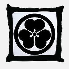 Wood sorrel in circle Throw Pillow