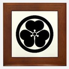 Wood sorrel in circle Framed Tile