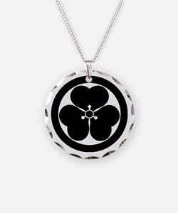 Wood sorrel in circle Necklace
