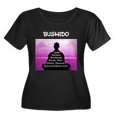 Bushido Pink and white Plus Size T-Shirt