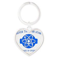 Never Trust An Atom Heart Keychain