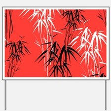 Asian Bamboo Yard Sign
