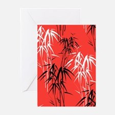 Asian Bamboo Greeting Cards
