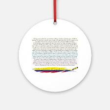 50 dichos sagrado corazon Ornament (Round)