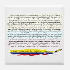 50 dichos sagrado corazon Tile Coaster