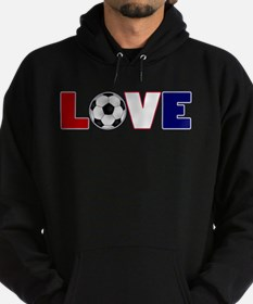Love Soccer USA Colors Hoodie