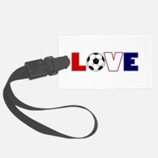 Love Soccer USA Colors Luggage Tag