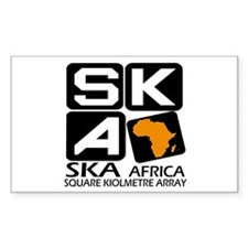 Sq. Km. Array Africa Sticker (rectangle)