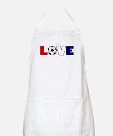 Love Soccer USA Colors Apron