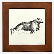 Vintage Walrus Framed Tile