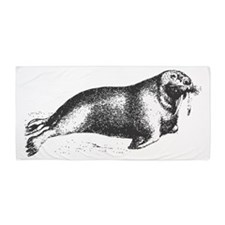 Vintage Walrus Beach Towel