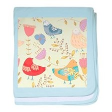 Flowers and Birds baby blanket
