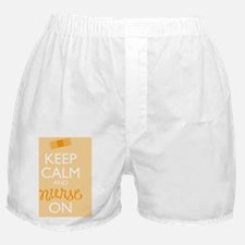 Keep Calm and Nurse On Boxer Shorts