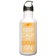 Keep Calm and Nurse On Sports Water Bottle