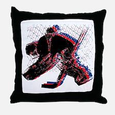 Hockey Goaler Throw Pillow