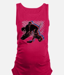 Hockey Goaler Maternity Tank Top
